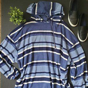 Venezia Vitale Striped Hooded Shirt
